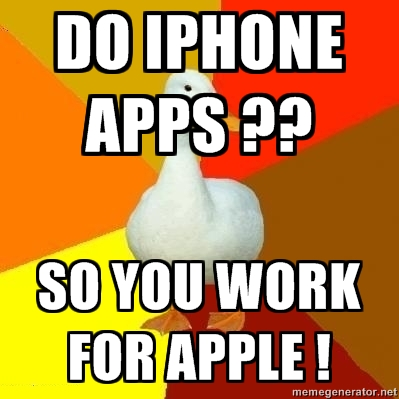Do iPhone apps? Works for Apple!