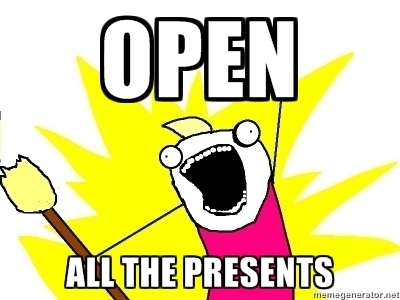 open all the presents